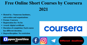 Free Online Short Courses by Coursera 2021