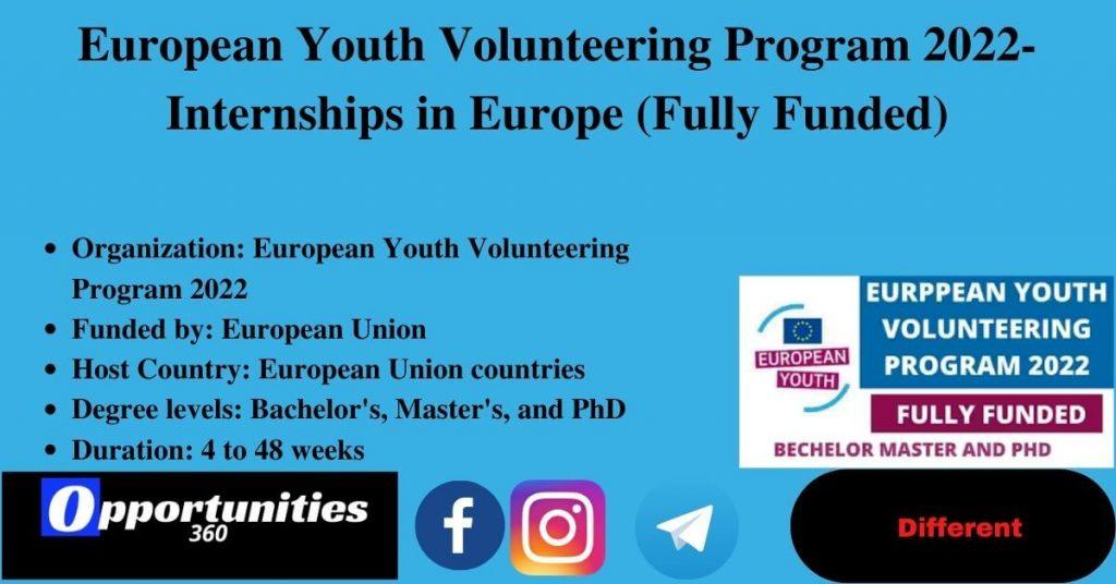 European Youth Volunteering Program 2022