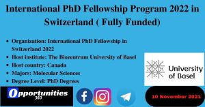 International PhD Fellowship