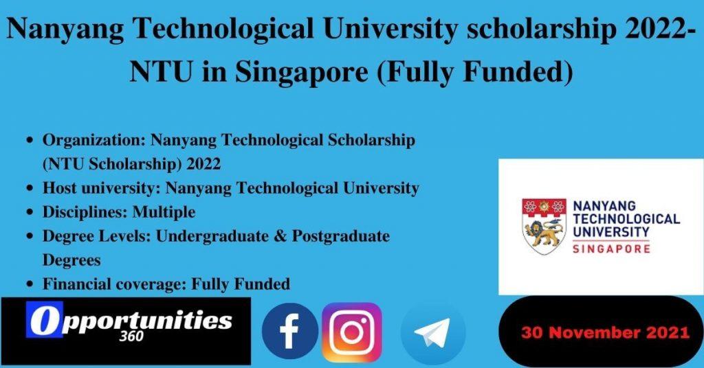 Nanyang Technological University scholarship