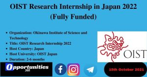 OIST Research Internship 2022